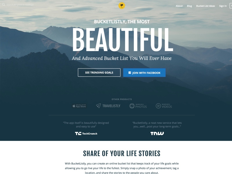 BucketListly is the most beautiful and advanced bucket list you will ever have