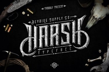 Harsh Typeface-min