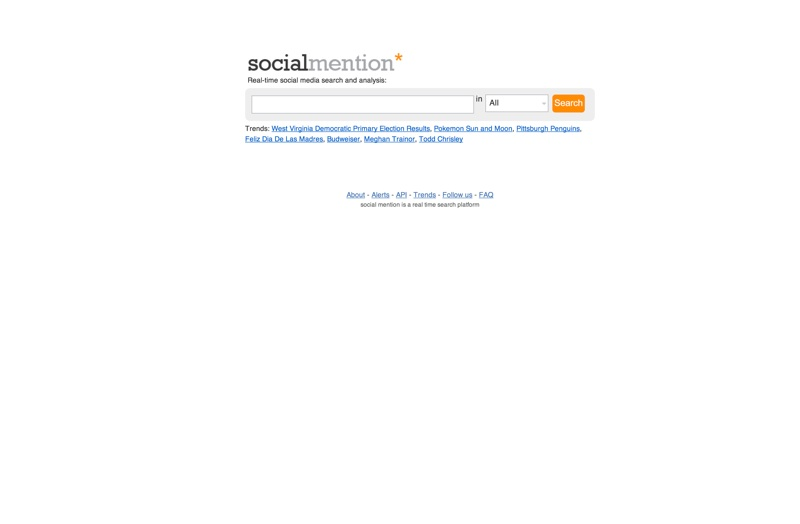 Social Mention is a social media search engine that searches user-generated content such as blogs, comments, bookmarks, events, news, videos, and microblogging services.