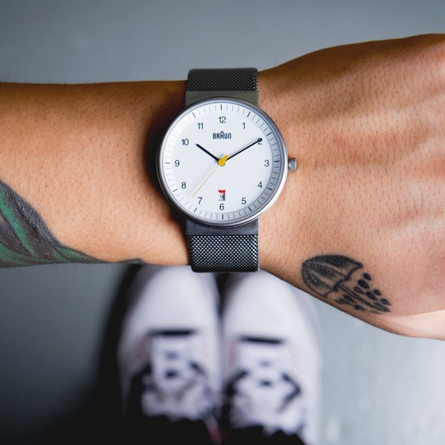 Stainless Mesh Watch by Braun