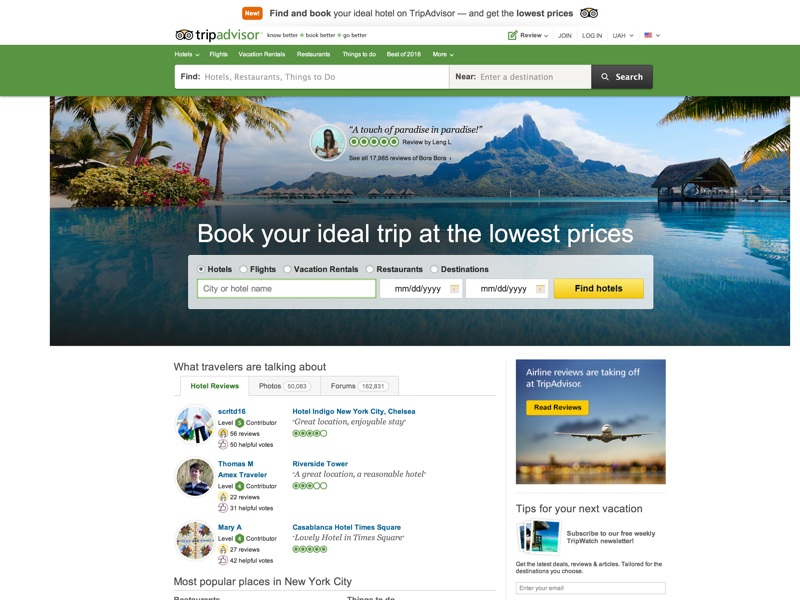 World's Largest Travel Site. 200 million+ unbiased traveler reviews. Search 200+ sites to find the best hotel prices.