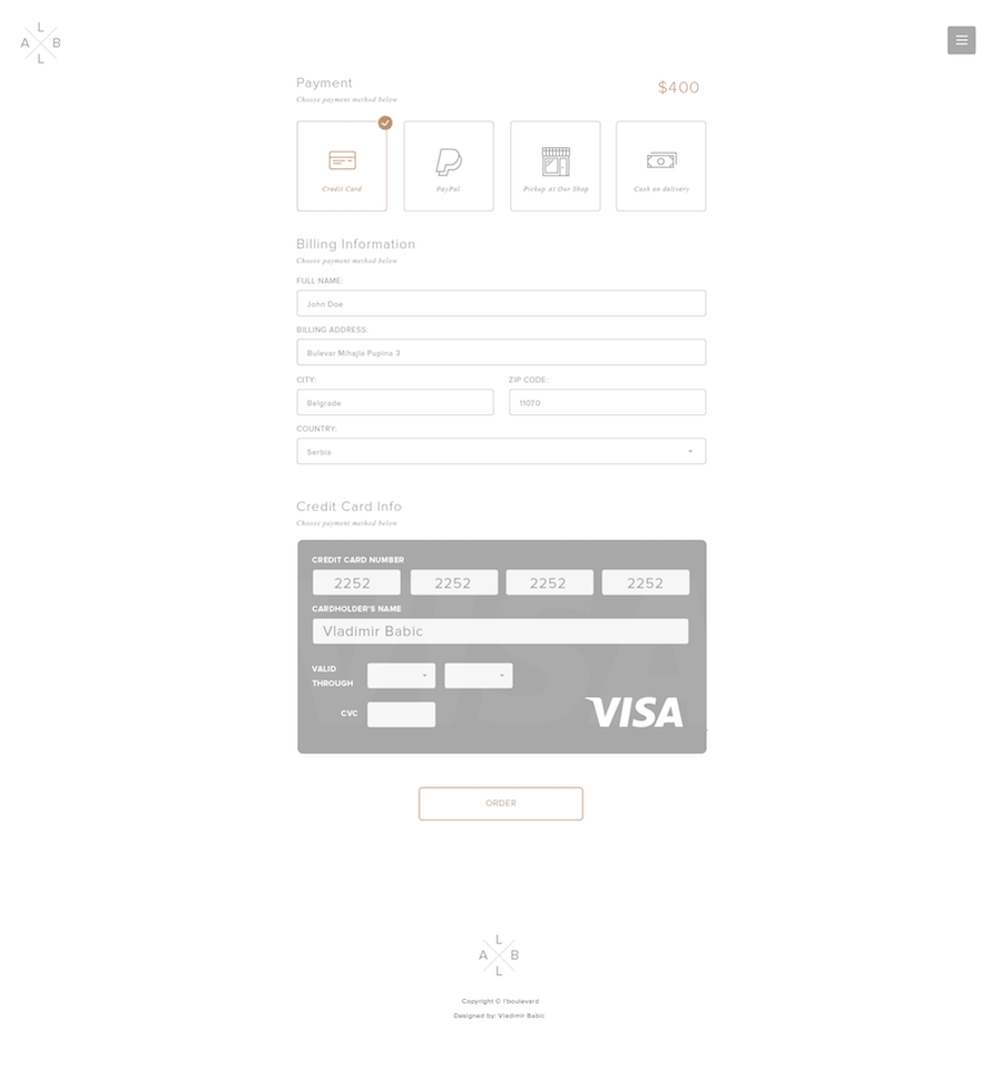 Checkout Page by Vladimir Babic-min