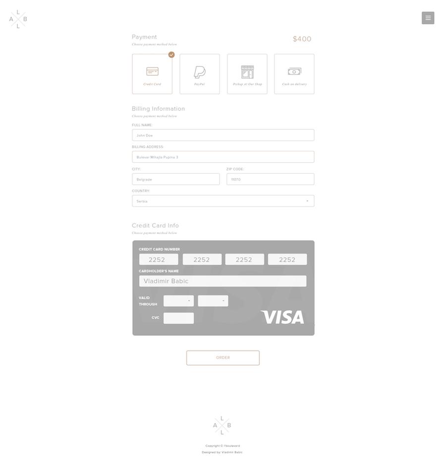 Checkout Page by Vladimir Babic-min