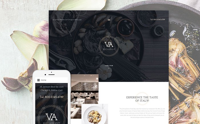 VA Restaurant: Stylish Joomla Template