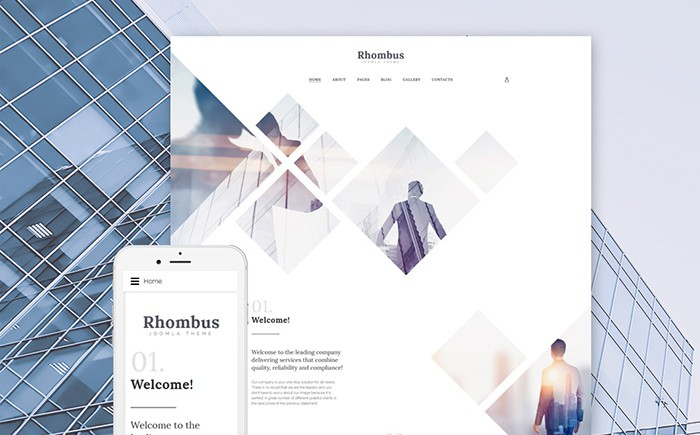 Rhombus: Modern Business Centre Joomla Template