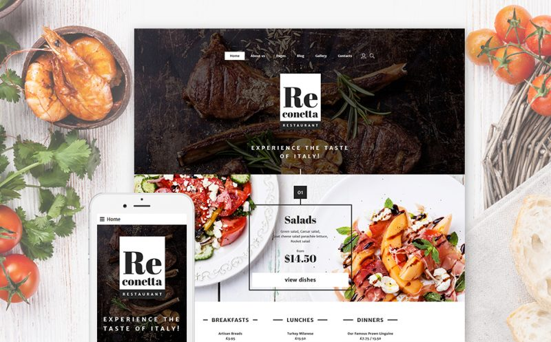 Re conetta: Gorgeous Restaurant Joomla Template