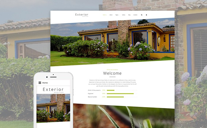 Exterior: House Design Joomla Template