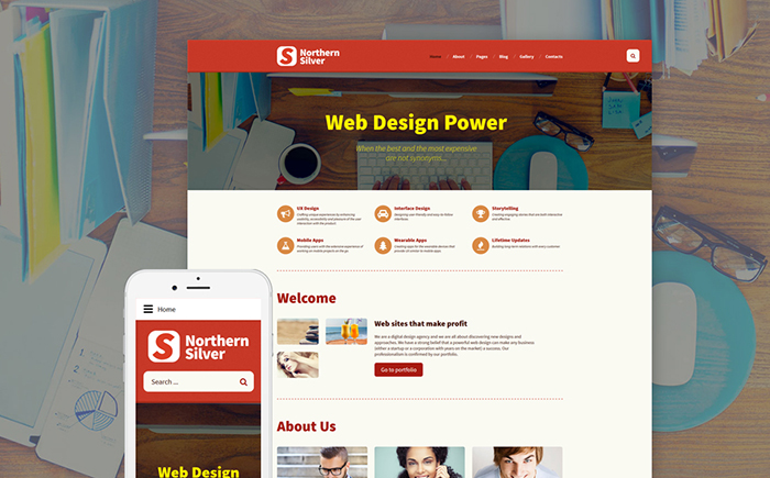 Northern Silver: Design Studio Joomla Template
