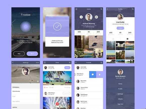 Social app concept design