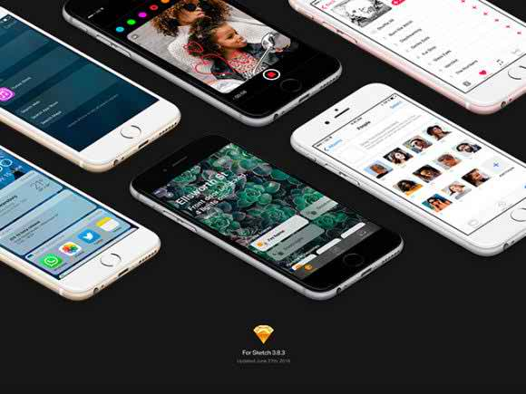 Free iOS 10 GUI kit for Sketch
