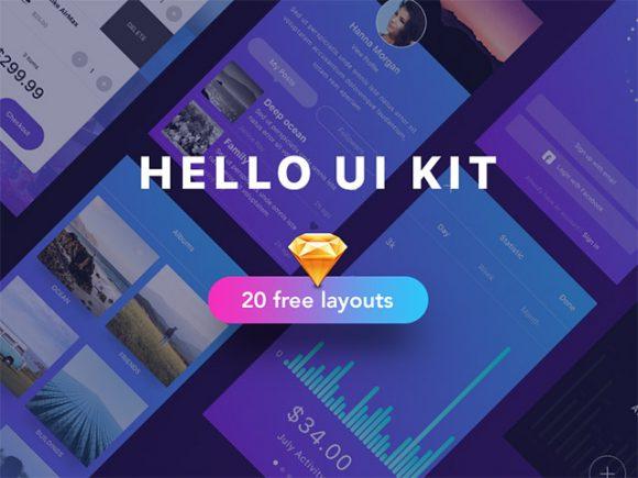 free UI kit sample for Sketch