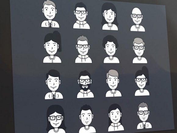 Free vector user avatar icons