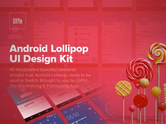 Android Lollipop UI kit
