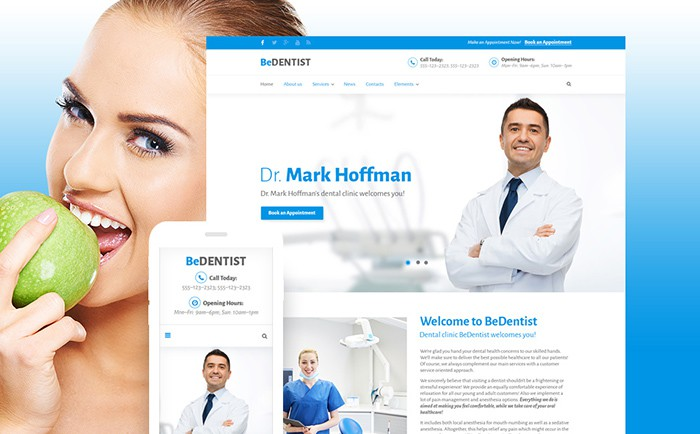 BeDentist Website Template