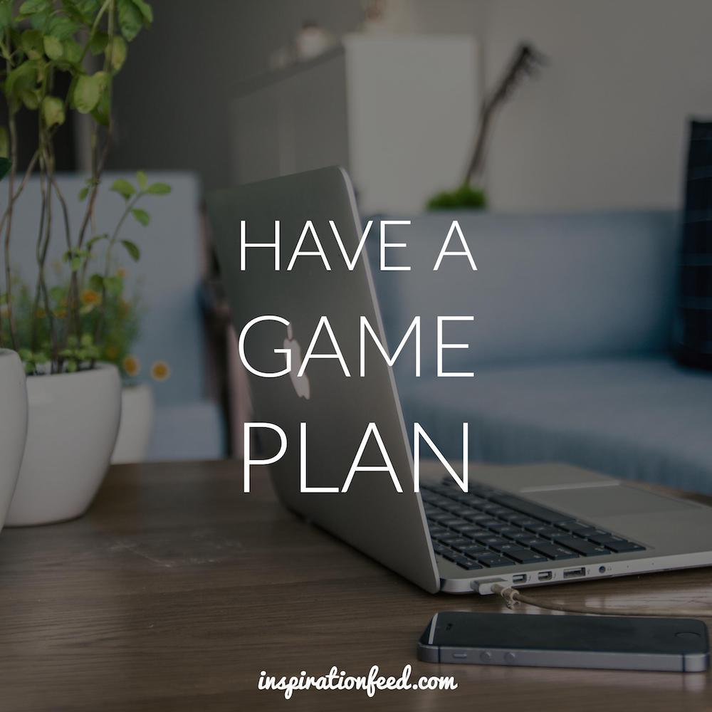 Have a Game Plan quote picture