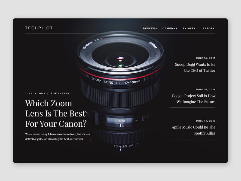 TechPilot Homepage by Oliur