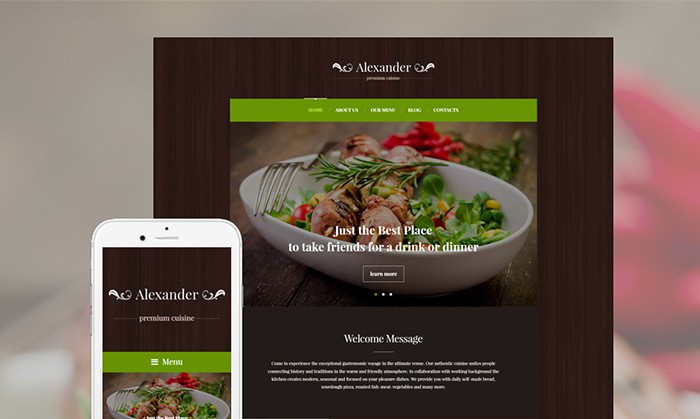 Premium Cuisine WordPress Theme