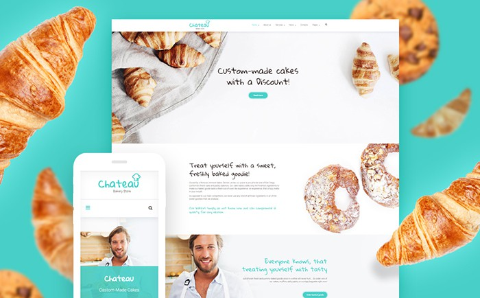 Chateau – Bakery and Receipts WordPress Theme