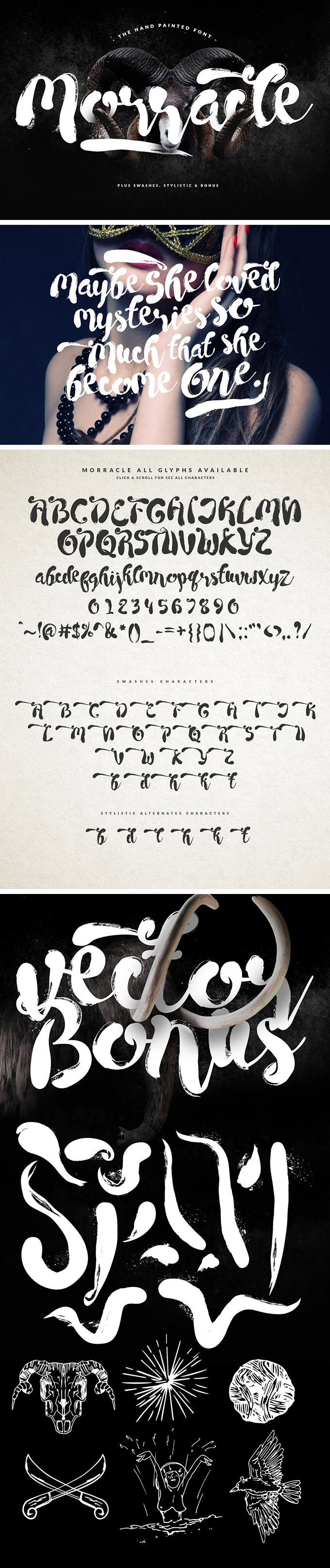 Morracle free font