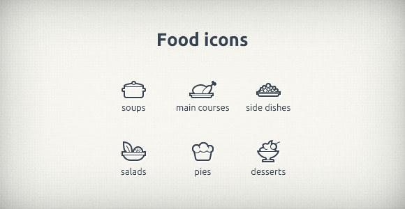 food-icons-psd