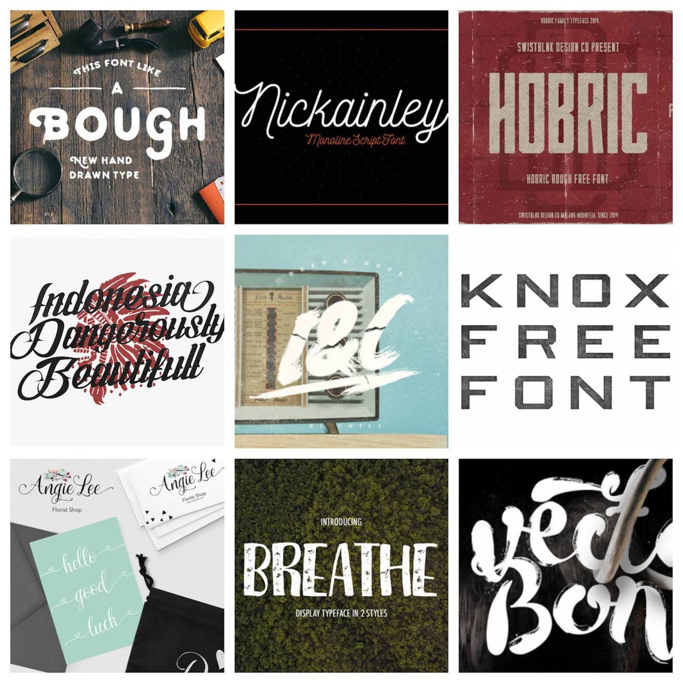 90 Free Hipster Fonts for 2019 | Inspirationfeed