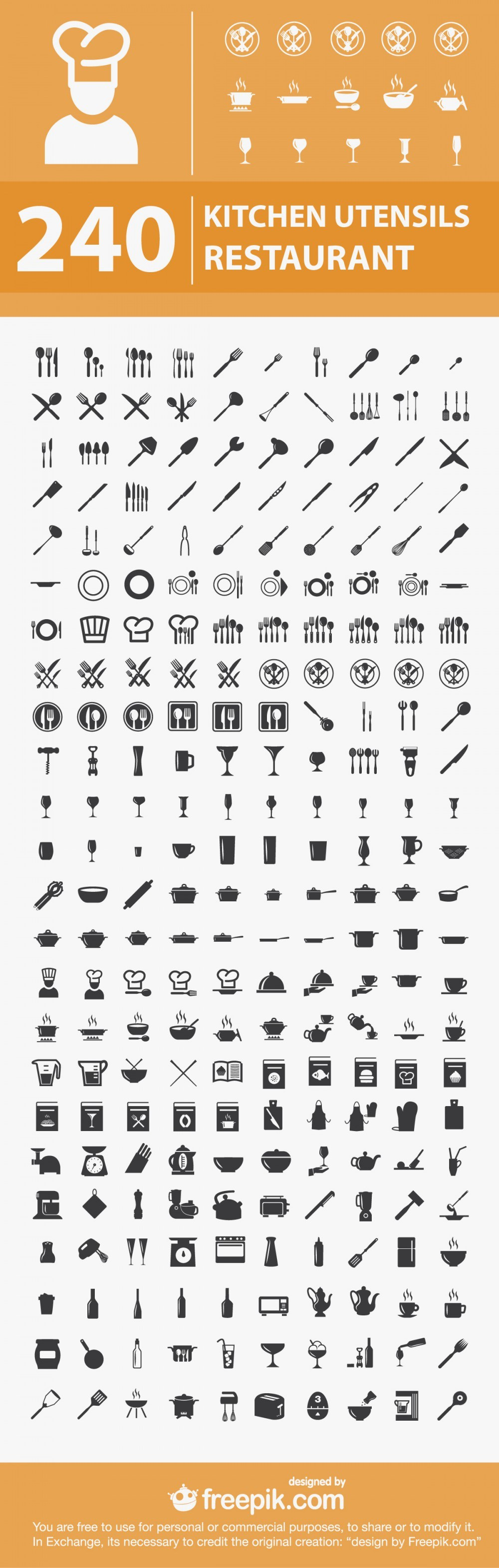 240-free-kitchen-restaurant-icons