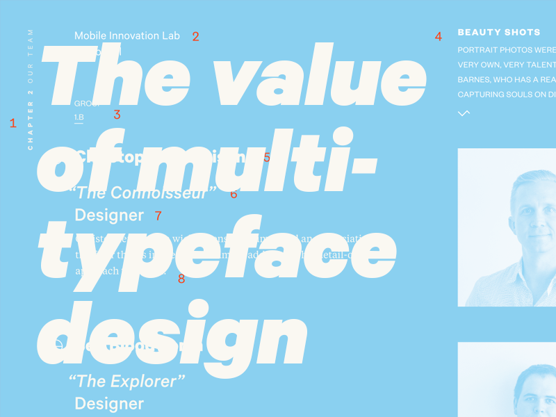 The value of multi typeface design by Bethany Heck