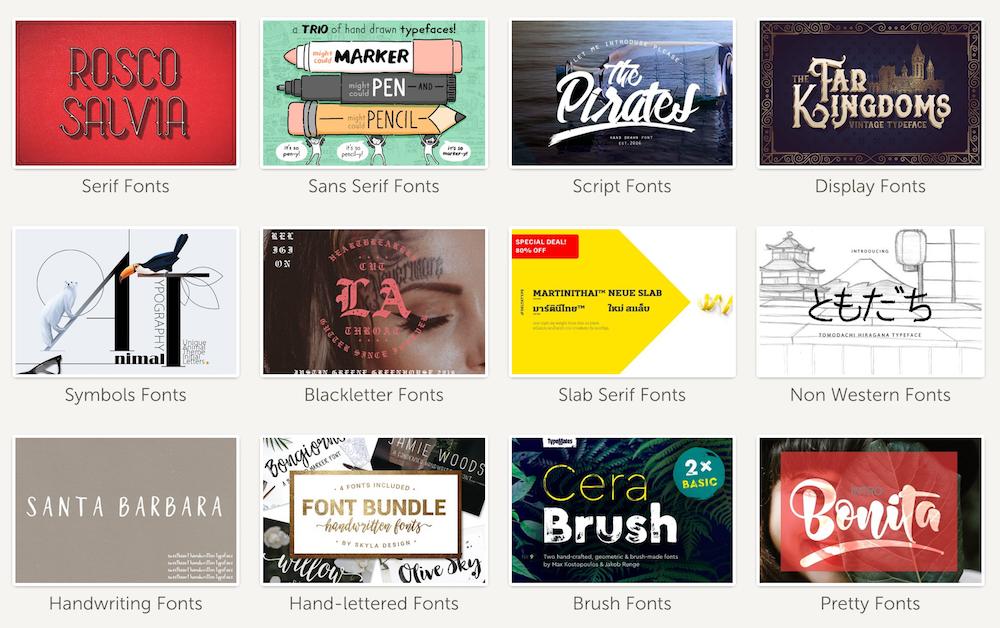 Thousands of Premium Fonts