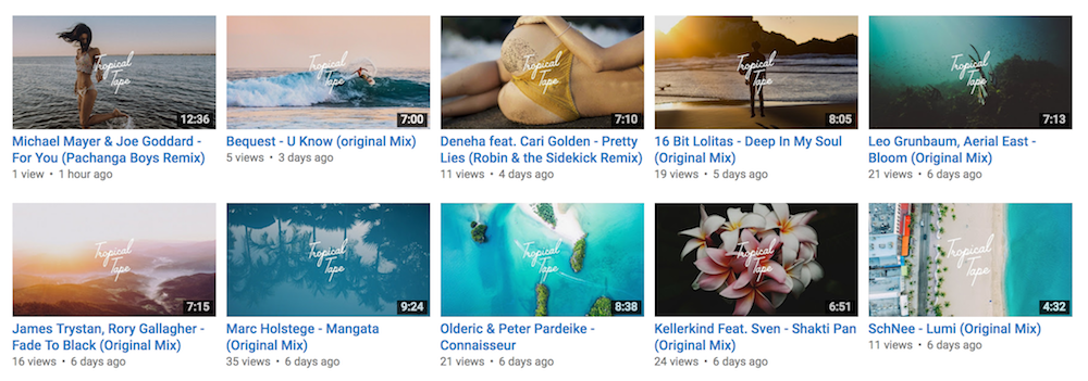 Tropical Tape Youtube Channel videos
