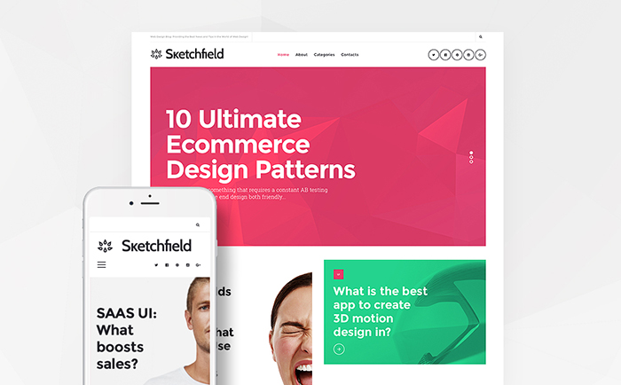 sketchfield wordpress theme