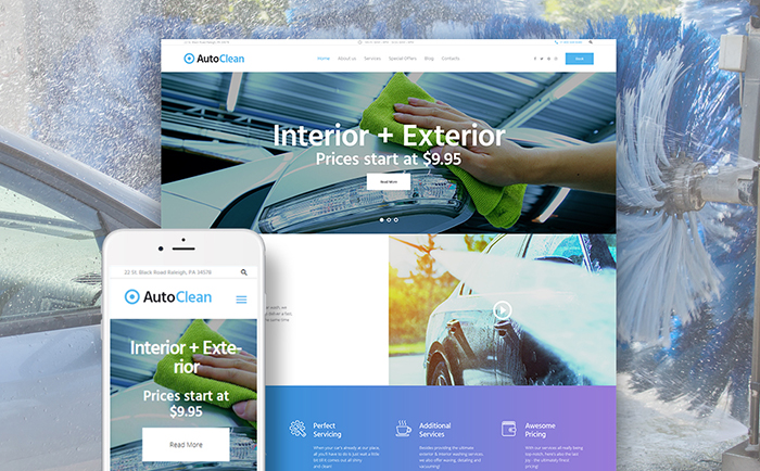 AutoClean - Car Wash & Car Repair WordPress Theme