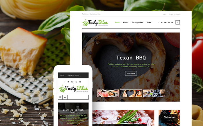 Tasty bites wordpress theme
