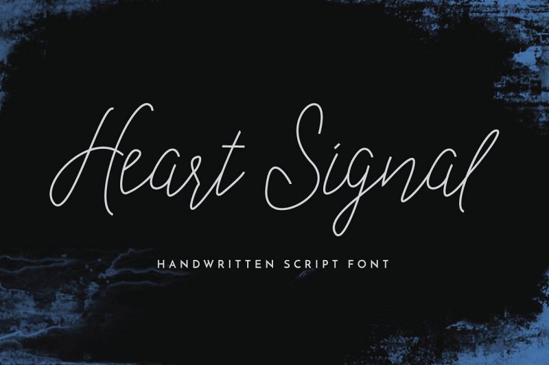 Heart Signal Typeface - Script Like Save Heart Signal Typeface - Script - 1 Heart Signal Typeface - Script - 2 Heart Signal Typeface - Script - 3 Heart Signal Typeface - Script - 4 Heart Signal Typeface - Script - 5 Heart Signal Typeface - Script - 6 Heart Signal Typeface - Script - 7 Introducing a signature style of Heart Signal Script Typeface! A modern classy handwriting font that give you a personal signature style with just a few moves ;)
