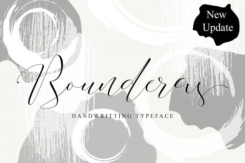 Presenting to you a Bounderas Script, a hand lettering modern calligraphy, This font was created with full of love, with smooth pulled. Bounderas Script creating the natural font for your designs beyond a standard font and include Ligatures (letters custom).