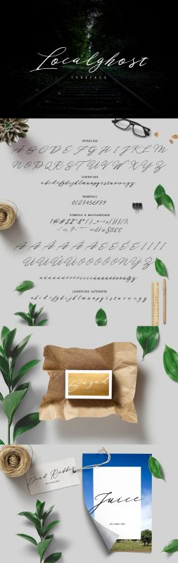 introducing Localghost typeface , using style signature lettering script. Localghost typeface a beautiful for logotype, website header, fashion design, header magazine, header mail and any more.