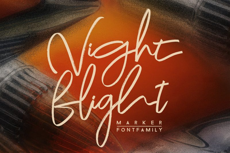 The modern, elegant 'Night flight' font family is a marker font that offers you numerous combinations to make a design.