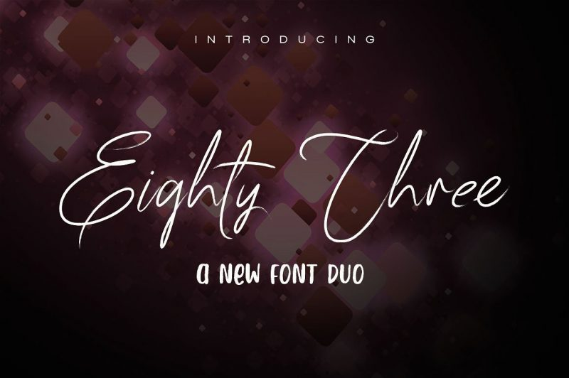 83 script - Script Like Save 83 script - Script - 1 83 script - Script - 2 83 script - Script - 3 83 script - Script - 4 83 script - Script - 5 83 script - Script - 6 Introducing 83 script! A Clean & Classy signature-style a new font duo with awesome characters! 83 script to make it look even more natural than a standard font, include Ligatures (letters custom).