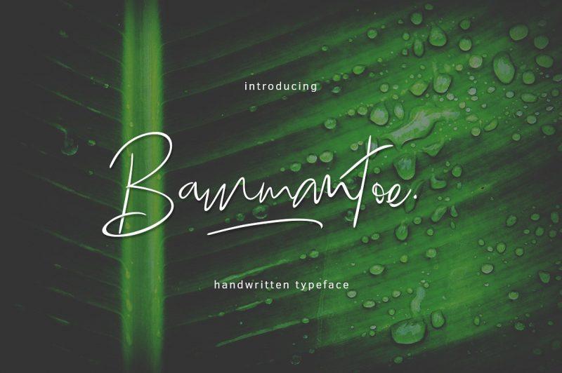 Bammantoe Typeface - Script Like Save Bammantoe Typeface - Script - 1 Bammantoe Typeface - Script - 2 Bammantoe Typeface - Script - 3 Bammantoe Typeface - Script - 4 Bammantoe Typeface - Script - 5 Bammantoe Typeface - Script - 6 Bammantoe Typeface - Script - 7 Bammantoe Typeface - Script - 8 Introducing: Bammantoe Typeface is a handwritten font.