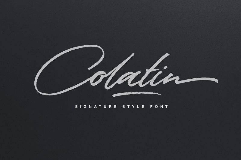 Colatin Script - Script Like Save Colatin Script - Script - 1 Colatin Script - Script - 2 Colatin Script - Script - 3 Colatin Script - Script - 4 Colatin Script - Script - 5 Colatin Script - Script - 6 Colatin Script - Script - 7 Colatin Script - Script - 8 Colatin Script - Script - 9 Colatin Script - Script - 10 Colatin Script - Script - 11 Colatin is handmade signature style font with stunning characters.