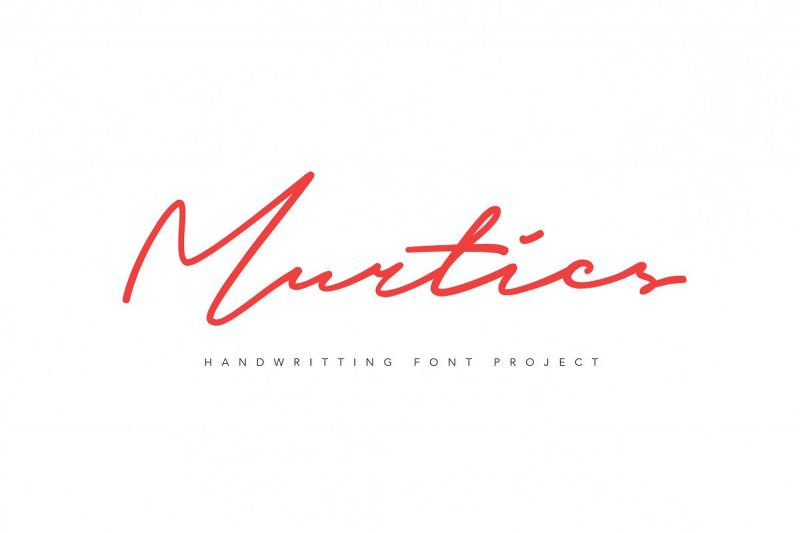 Murtics - Script Like Save Murtics - Script - 1 Murtics - Script - 2 Murtics - Script - 3 Murtics - Script - 4 Murtics is signature font, every single letters have been carefully crafted to make your text looks beautiful.