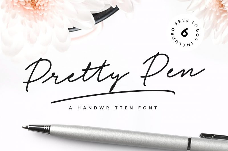 Pretty Pen Handwritten Font - Script Like Save Pretty Pen Handwritten Font - Script - 1 Pretty Pen Handwritten Font - Script - 2 Pretty Pen Handwritten Font - Script - 3 Pretty Pen Handwritten Font - Script - 4 Pretty Pen Handwritten Font - Script - 5 Pretty Pen Handwritten Font - Script - 6 Pretty Pen Handwritten Font - Script - 7 Pretty Pen Handwritten Font - Script - 8 Pretty Pen is a trendy and unique handwritten font with a wide and right-slanted touch that makes it natural and pleasant. It's characteristic hand look style makes it perfect to use for logos, signatures,labels, packaging design, blog headlines or simply use it in your next design project.