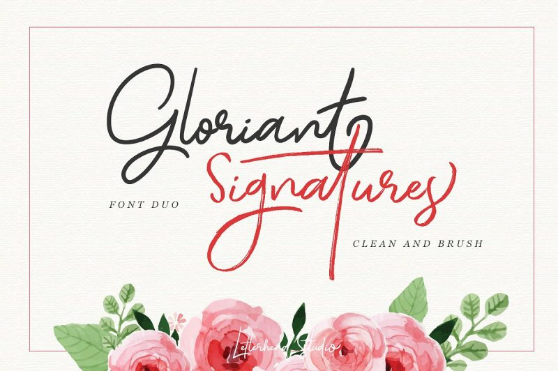 Gloriant Signature Script - Script Like Save Gloriant Signature Script - Script - 1 Gloriant Signature Script - Script - 2 Gloriant Signature Script - Script - 3 Gloriant Signature Script - Script - 4 Gloriant Signature Script - Script - 5 Gloriant Signature Script - Script - 6 Gloriant Signature Script - Script - 7 Gloriant Signature Script - Script - 8 Gloriant Signature Script - Script - 9 Gloriant Signature Script - Script - 10 Gloriant Signature Script - Script - 11 Gloriant Signature Script - Script - 12 Introducing Gloriant Signature Script Font with two type of font : clean and brush! Both of them looks nice and elegant, naturally made by hand writing.