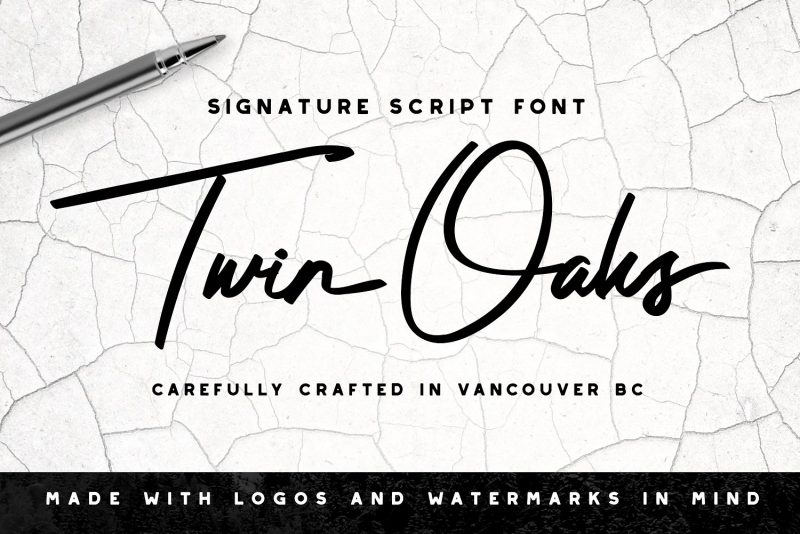 Twin Oaks Signature Script - Script Like Save Twin Oaks Signature Script - Script - 1 Twin Oaks Signature Script - Script - 2 Twin Oaks Signature Script - Script - 3 Twin Oaks Signature Script - Script - 4 Twin Oaks Signature Script - Script - 5 Twin Oaks Signature Script - Script - 6 Twin Oaks Signature Script - Script - 7 Looking for a unique signature look? Seeking that perfect watermark for your photography business? Twin Oaks is for you! We've put a great deal of time into finding that sweet spot where a signature looks like it was written quickly, but still stays quite legible.