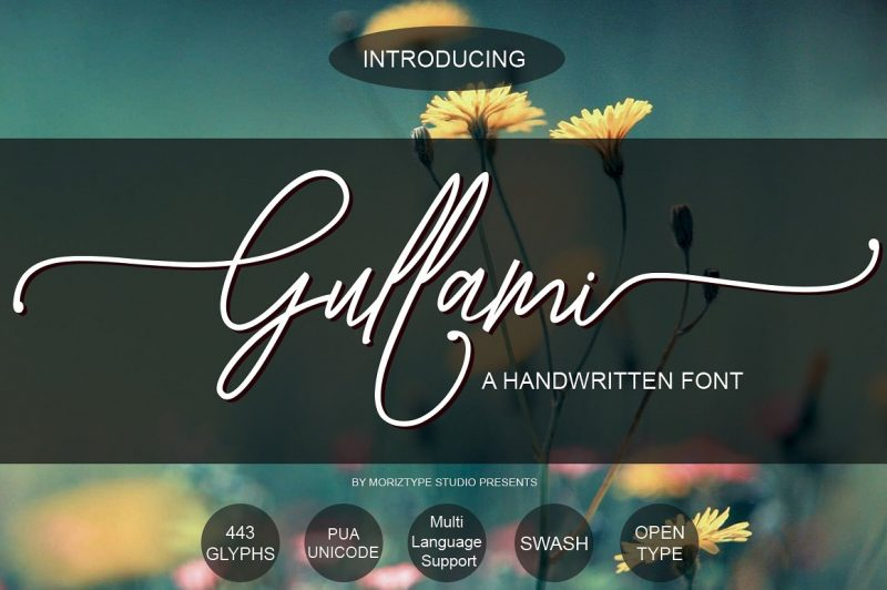 Gullami Rice Script is the original handwriting typeface, which was so fresh and natural.