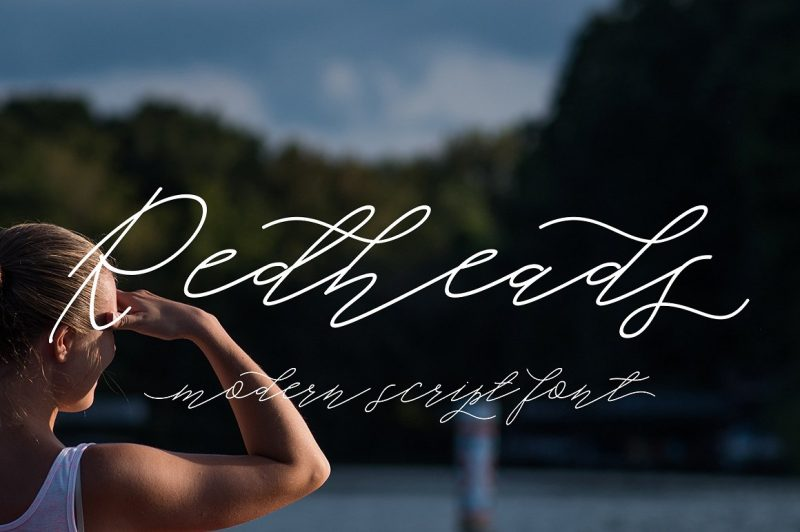 Redheads Script is a lovely calligraphic manuscript modern, I hope you are interested in this font, dynamic and pretty with swashes. Can be used for many purposes. such as title, signature, logo, wedding invitations, letterhead, signage, labels, newsletters, posters, badges, etc.