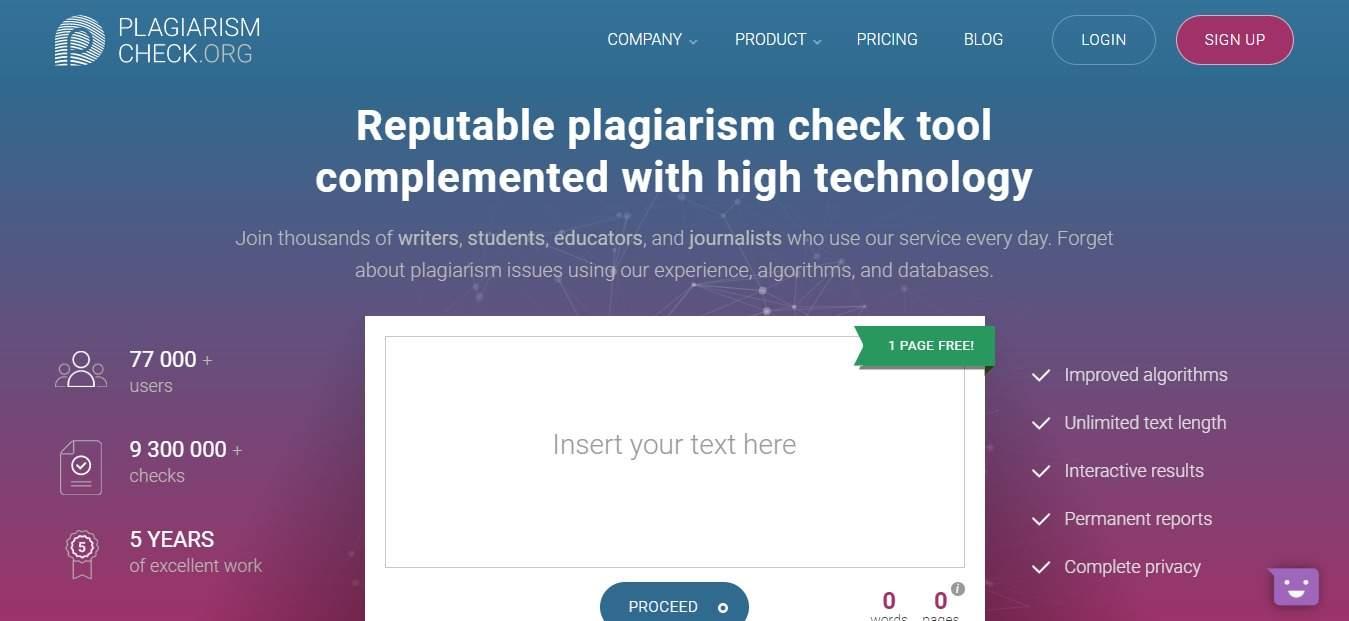 Online Plagiarism Checker Plagiarismcheck.org