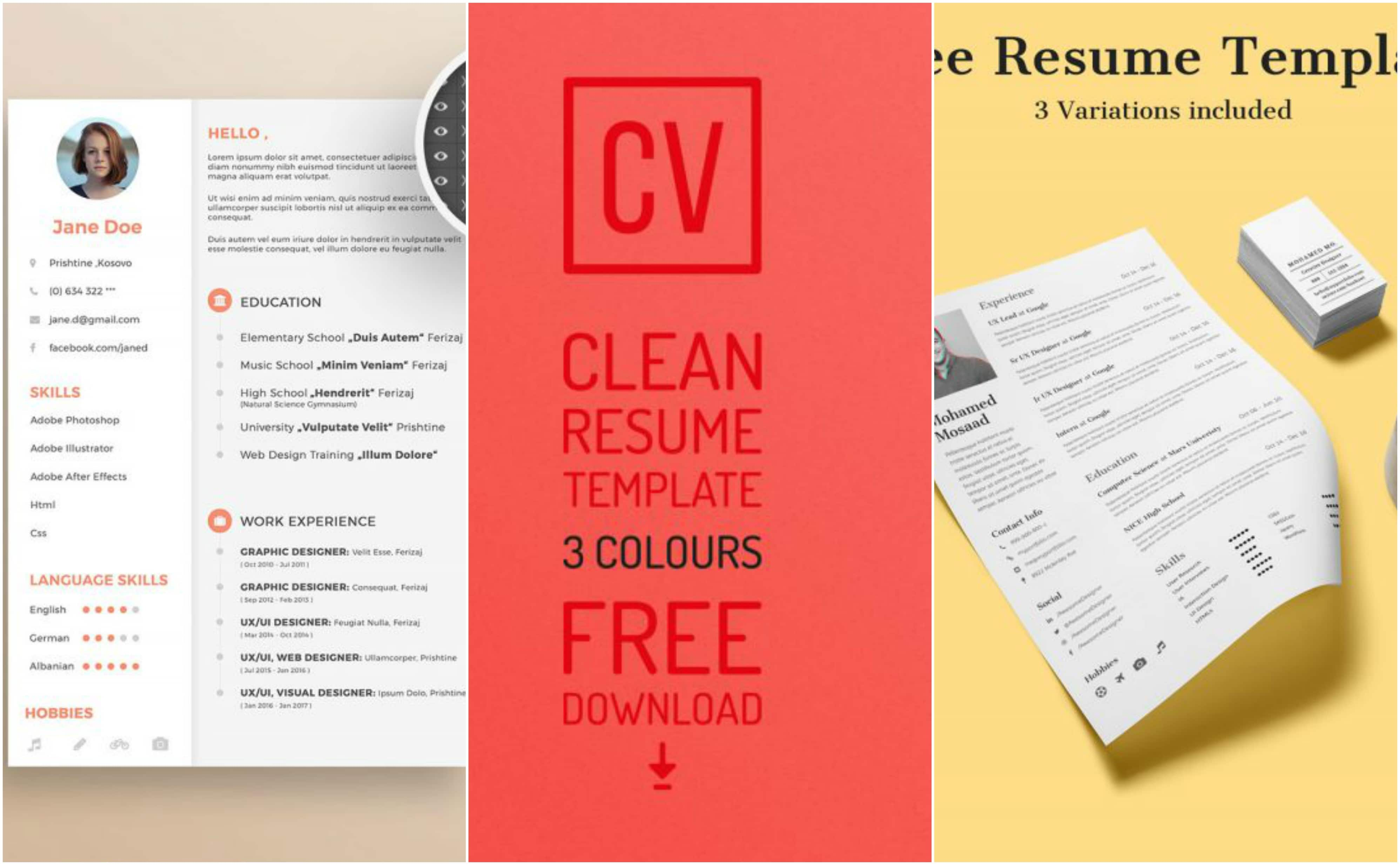 25 Free Resume Templates For Your Next Application Inspirationfeed