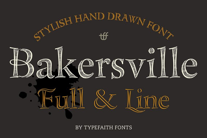 Bakersville is a package of 2 hand drawn sketch fonts by TypeFaith Fonts. The fonts are very useable for food packaging, menu's, etc and gives your product the authentic hand made look.