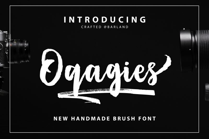 """"""" Oqagies Brush """" is a hand-made marker pen fonts, designed to create stunning hand-lettering quickly and easily. Also comes with 17 bonus, ideal for giving your text that final touch of finesse! Perfect for projects brands, the title, logo, correspondence, signage, labels, newsletters, badges, t-shirt, logos, product packaging, posters, news, blogs, everything including personal charm."""