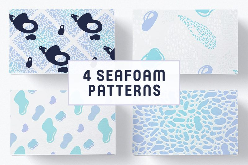 4 Seamless Seafoam Patterns - Patterns Like Save 4 Seamless Seafoam Patterns - Patterns - 1 4 Seamless Seafoam Patterns - Patterns - 2 4 Seamless Seafoam Patterns - Patterns - 3 This collection of eclectic seamless sea-foam inspired Patterns are ideal for: